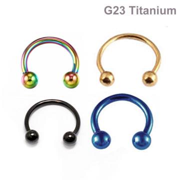 Usine Prix ASTM F136 Titane Circulaire Barbell Horseshoe Body Jewelry