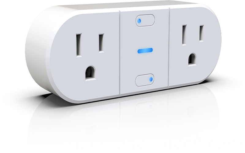 2 Socket Wifi Individual Controlled Outlet