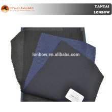 Italian Angelico fine quality worsted wool navy pin stripe suit fabric for tailors