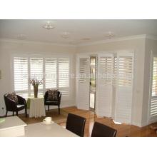 Confort Disfrute de nivel superior plegable interior ventanas de madera obturador plantación