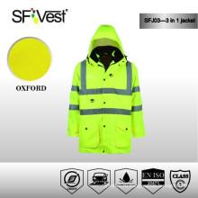 3 в 1 Safety Jumpsuit работают 100% полиэстер легкий водонепроницаемый куртка