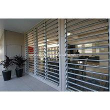 Seamless Burglar Proof Aluminium Tempered Glass Louver Window