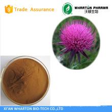 Milk Thistle P.E.;Milk Thistle Extract; 40%-80% Silymarin UV&HPLC, 70%-90% Silybin HPLC;Water-Soluble Silymarin 40% UV.