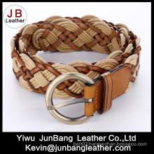 Fashion Ladie′s Bonded Leather Braid Belt