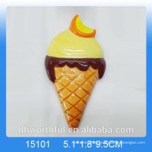 Ímã cerâmico do refrigerador da decoração do verão com projeto do gelado