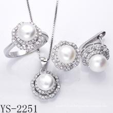 Joyas de perlas 925 joyas de plata con CZ.