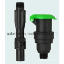 Válvula de acoplamento rápido de plástico de alta resistência