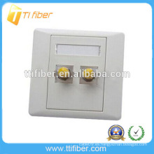 Placa frontal de fibra óptica ST de dos puertos de alta calidad