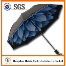 Дизайн собственного логотипа 3 складной цветок печати внутри зонтик