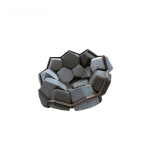 Modular Designer Removable Angular Cushions Quartz Armchair