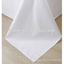 cotton white sateen hotel linen duvet cover fabric