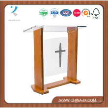 Wide Church Podium with Plain Front Panel