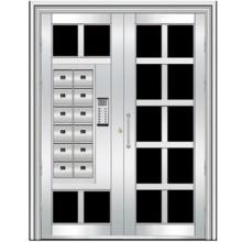 puerta de acero inoxidable