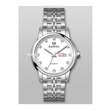 Silver metal watch for women