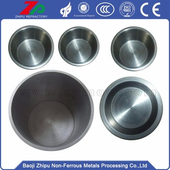 Baoji sintering tungsten crucible in stock
