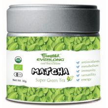 Matcha Super Pó de Chá Verde Estilo Japonês 100% Orgânico UE Nop Jas Certificado Pequeno Ordem Disponível (T1)