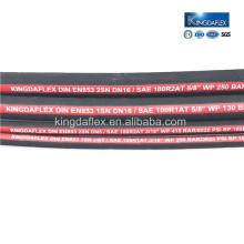 Китай профессиональная фабрика для высокого давления электропередач резиновый шланг с хорошей обратной связью для гидравлической системы
