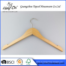 Suspensión de madera pantalón terminado abierto un grado Normal de ropa suspensión de madera