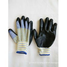13G Polyester Shell Nitrile Coated Safety Work Gloves (N6014)
