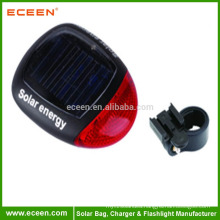 USB 2.0 Solar Rechargeable LED Bicycle Safety Rear tail Light