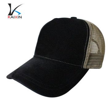 custom hats and caps plain blank suede trucker cap hat