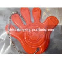 Промоушн Светоотражающая цепочка ключей, Мягкая цепочка ключей из ПВХ Custom, Shape Hand Key Chain