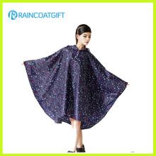 Повторяющийся печатных мода женская Ева дождь пончо