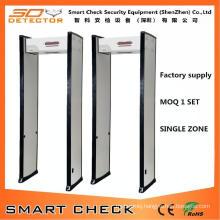 Single Zone Walk Through Metal Detector Body Security Detector