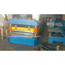 Wellpappe-Wasser-Wellen-Farbe beschichtete Tilr-Rolle, die Maschine bildet