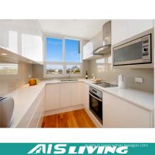 Meubles blancs à haute brillance de Cabinet de cuisine (AIS-K154)