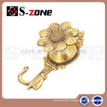 cheap curtain tie back hooks flower curtain tieback