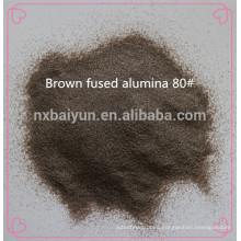 Abrasive brown fused alumia and white alumina oxide