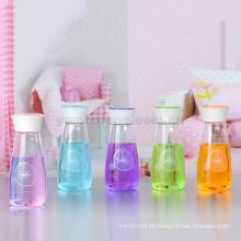 Botella de cristal linda del regalo del estilo del florero al por mayor del vidrio de borosilicate al por mayor