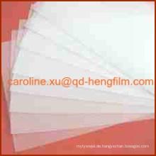 High Glass Glossy Bekleidungszubehör Collar Insert Starre PVC-Folie