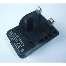 5V 1A UK BS 3 Pin USB Adapter with CE Certificate