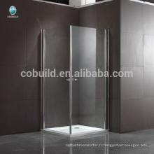 K-533 304 en acier inoxydable carré verre charnière douche cabine de douche