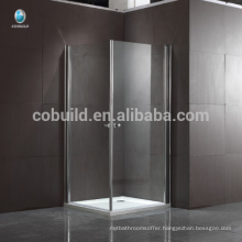 K-533 304 stainless steel Square Glass Hinge Shower Enclosure shower room