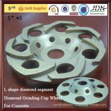 L Shape Diamond Segment Diamond Grinding Cup Wheel for Concrete