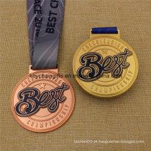 Medalha de medalha de campeonato de medalha personalizada melhor com fita
