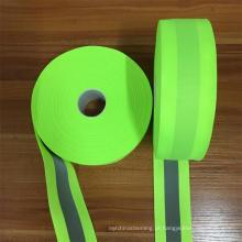costura reflexiva da tela na tira para o vestuário de trabalho elástico reflexivo