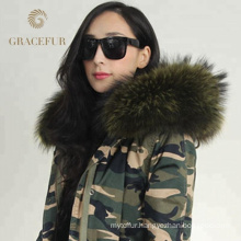 Direct factory price lined outfit winter real fur parka