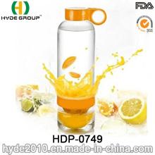 800ml Cheap Price Lemon Infuser Water Bottle, BPA Free Tritan/PC Fruit Infuser Water Bottle (HDP-0749)
