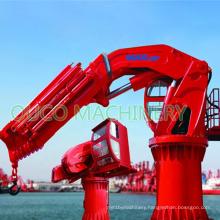 High Efficiency Cargo Crane Hydraulic Provision Crane with Electric Motor