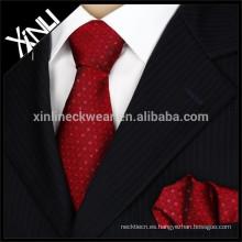 Minion tejida seda hecha a mano de la moda de los hombres del nudo perfecto calificado nombres corbata