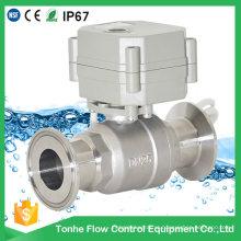 Válvula de esfera sanitária do controle do fluxo elétrico de 2 maneiras com CE (T25-S2-CQ)