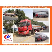 Heavy Duty 350HP 8X4 25000L Faw caminhão tanque de óleo caminhão tanque de combustível