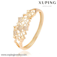 51284-xuping luxury bangles with 18k gold color and CZ stone