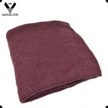 Твердое цветное акриловое акриловое зимнее теплое вязаное одеяло