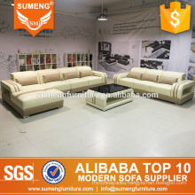 2017 modern italian style 7 seater leather sectional sofa set