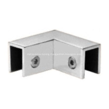 90 Degree Glass-to-Glass Sleeve Over Shower Door Clamps